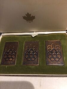 Set of 3 bronze Olympic stamps Great condition 1976 All original
