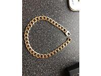 9ct gold solid curb chain gold chain heavy chain 272gram