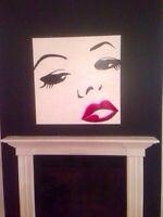 Toile / peinture Marilyn Monroe a l'acrylique