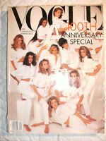 Vogue 100th Anniversary Issue Supermodel Cover (April 1992)