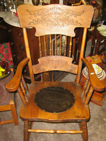 Antique Press Back Rocking Chair