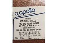 2x tickets - Nathaniel Ratecliff and the nights Sweats @O2 Apollo Manchester - Friday 18th Nov