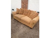 "Caramle two seater plus armchair £60 ""free local delivery """