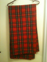 FABULOUS Bolt of Heavy 100% Wool Royal Stewart Tartan Fabric