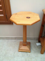 SOLID PINE CANDLE STICK TABLE