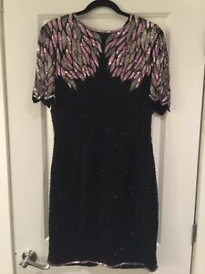 Hand sequined Dress - Size M (Size L Too) St. John's Newfoundland image 1