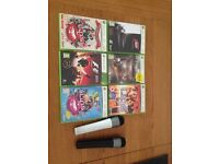 Xbox 360 Games and Lips Microphones