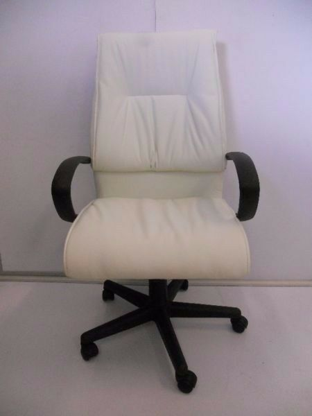 RANGE OF WHITE DESK AND CHAIRS NEW & SECOND HAND