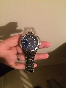 Blue Fossil Mens Watch