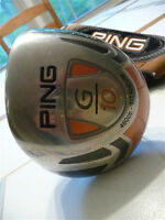 ping g10 driver , stiff shaft, great shape . best offer