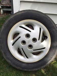 185 65 14  four all season tires and rims