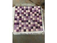Purple mix glass mosaic tiles