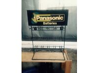 Counter top Panasonic battery stand
