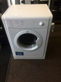 White indesit 7 kg dryers good condition with guarantee bargain