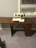 brother sewing machine and table