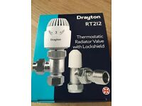 Drayton thermostatic radiator valve with lock shield Brand new never used