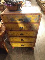 Commode 5 tiroirs bois teck Indonésie / 5 drawers chest teck woo