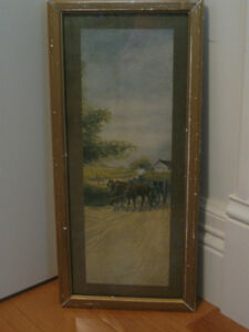 "CHARMING OLD ANTIQUE ""WHITE CITY ART CO."" [1908] FRAMED PRINT"