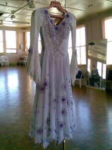 Beautiful gorgeous white purple Ballroom dancing dress Size 6-8 Gordon Ku-ring-gai Area Preview