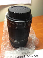 BRAND NEW Canon EFs 55-250 mm camera lens (with WARRANTY)