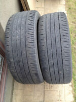 2 ALL SEASON TIRES / 2 PNEUS 245/50/20  BRIDGESTONE DUELER