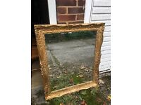 GENUINE FRENCH VINTAGE MIRROR FREE DELIVERY LOVELY