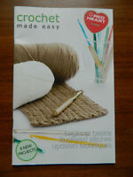 2 Crochet Booklets Crochet made easy and pattern book Both New