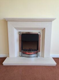 Engineered Stone Fireplace - Electric VGC