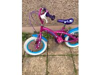 Girls purple 14inch bike