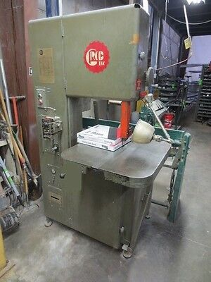 Grob 4v-18 Vertical Bandsaw Pneumatic Feed Contour Table Wlight Blade Welder