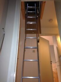 Metal loft ladder