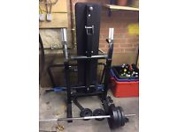 Folding Bench Press with Dip Station
