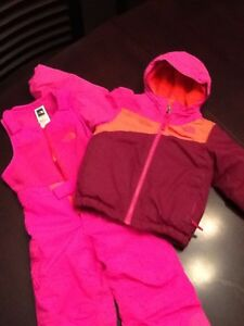 North Face Girls 2T winter jacket and pants