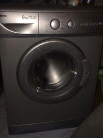 Beko silver 6kg 1300rpm washing washine