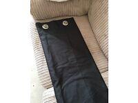 """Black silk curtains 66"""" x 72"""""""