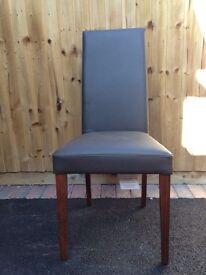 M&S Alton Plain Leather Dining Chairs