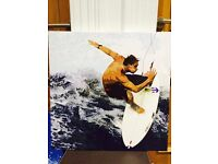 Limited edition canvas print - surfer