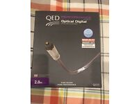 QED Performance Graphite Digital Optical Cable 2m