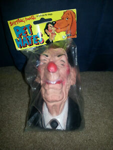 President Reagan Squeaky Toy MIP 80s Made in England