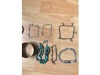 Job lot silver bracelets