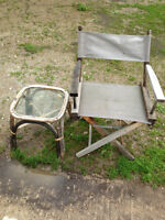 outdoor chair and small table, can deliver
