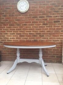 Vintage painted oval dining table