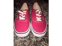 Juniors/women's pink vans size 5