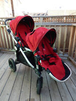 City Select Baby Jogger Double Stroller + extras