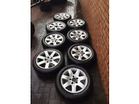 """8x bmw e46 16"""" alloy wheels and tyres ( spare drift wheels ect)"""