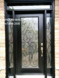 Glass Iron Door Entry Entrance Front  Custom