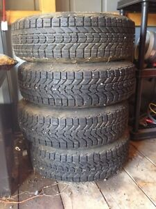 Like new winter tires on rims Cornwall Ontario image 1