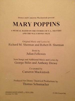 Mary Poppins Disney & Gypsy Broadway Musical/Stage 2 Script Lot
