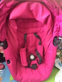 Stokke crusi sibling seat, adaptors , for rest and raincover