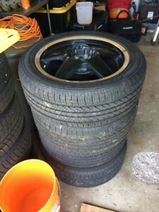 250/50R17 Tires on 5bolt Universal Rims